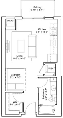 Studio 1 Bathroom Apartment for rent at Edition Residences in Minneapolis, MN