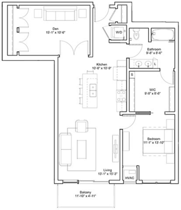 1 Bedroom 1 Bathroom Apartment for rent at Edition Residences in Minneapolis, MN