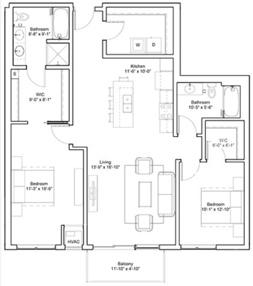 2 Bedrooms 2 Bathrooms Apartment for rent at Edition Residences in Minneapolis, MN
