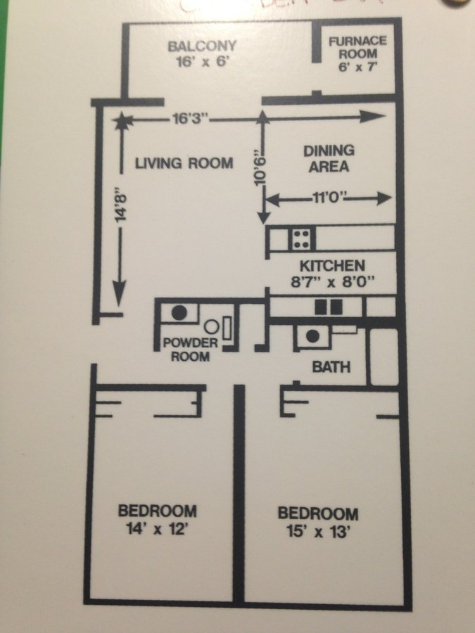 2 Bedrooms 1 Bathroom Apartment for rent at Walnut Crossings in Monroeville, PA