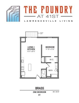 1 Bedroom 1 Bathroom Apartment for rent at The Foundry At 41st in Pittsburgh, PA