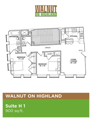 2 Bedrooms 2 Bathrooms Apartment for rent at Walnut on Highland in Pittsburgh, PA