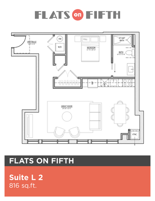1 Bedroom 1 Bathroom Apartment for rent at Flats On Fifth in Pittsburgh, PA