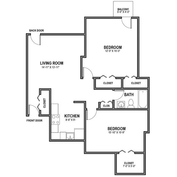 2 Bedrooms 1 Bathroom Apartment for rent at University Commons in Pittsburgh, PA
