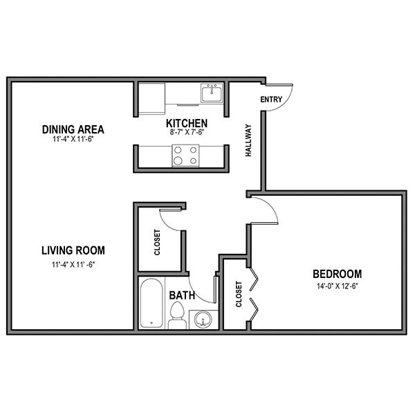 1 Bedroom 1 Bathroom Apartment for rent at Walnut on the Park in Pittsburgh, PA