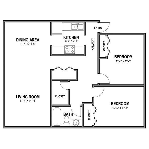 2 Bedrooms 1 Bathroom Apartment for rent at Walnut on the Park in Pittsburgh, PA