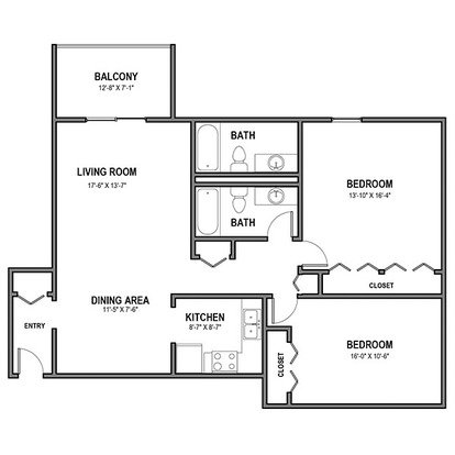 2 Bedrooms 2 Bathrooms Apartment for rent at Walnut Crossings in Monroeville, PA