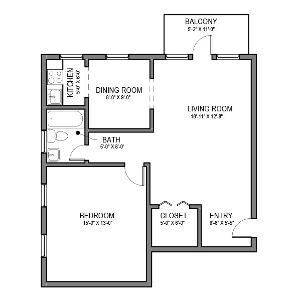 1 Bedroom 1 Bathroom Apartment for rent at Hempstead Properties in Pittsburgh, PA