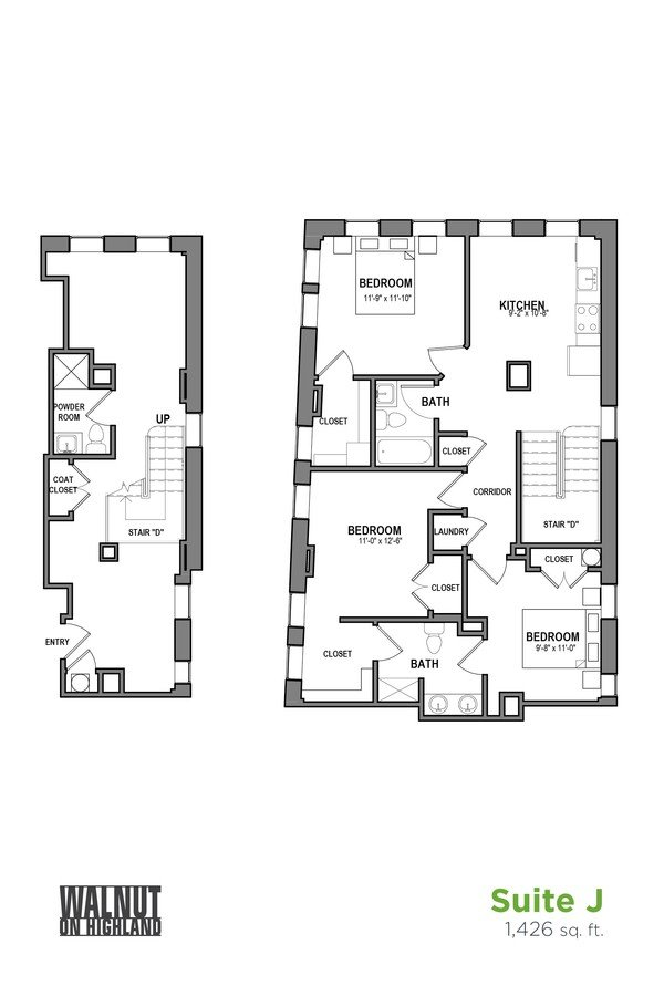 3 Bedrooms 2 Bathrooms Apartment for rent at Walnut on Highland in Pittsburgh, PA