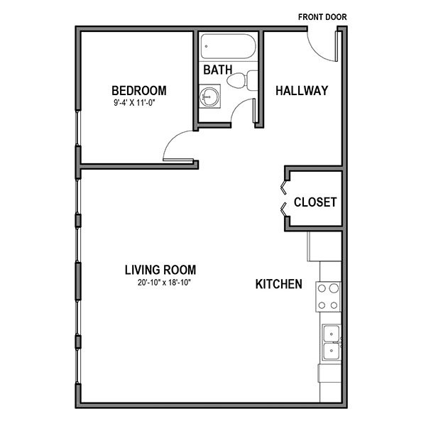 1 Bedroom 1 Bathroom Apartment for rent at Nevile Street Apartments  in Pittsburgh, PA