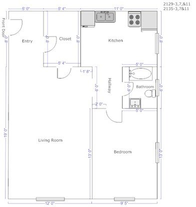 1 Bedroom 1 Bathroom Apartment for rent at Wightman Street Apartments in Pittsburgh, PA