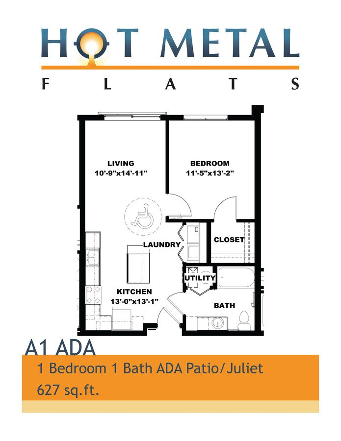 1 Bedroom 1 Bathroom Apartment for rent at Hot Metal Flats in Pittsburgh, PA