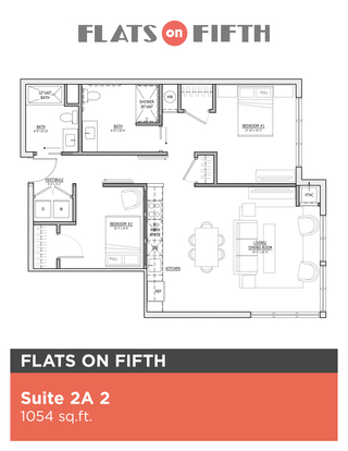 2 Bedrooms 2 Bathrooms Apartment for rent at Flats On Fifth in Pittsburgh, PA