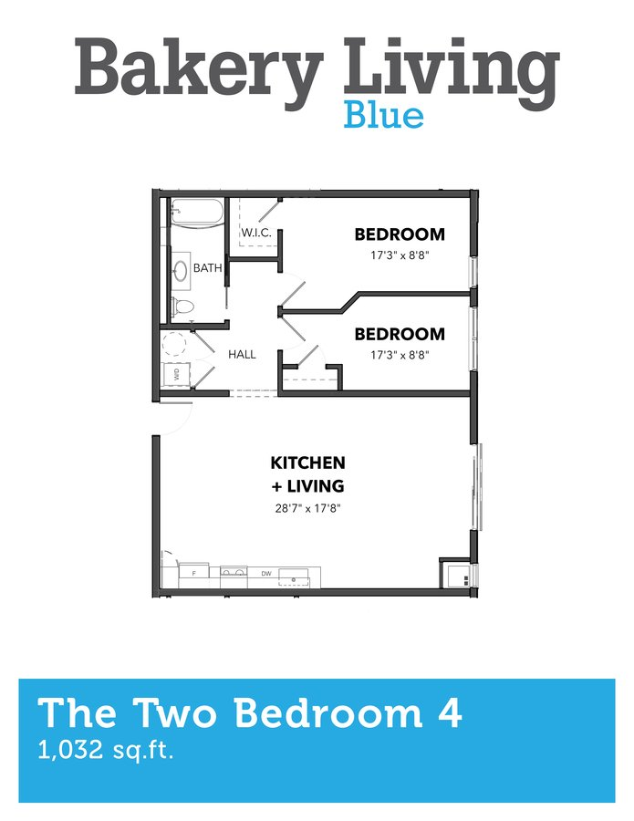 2 Bedrooms 1 Bathroom Apartment for rent at Bakery Living Blue in Pittsburgh, PA