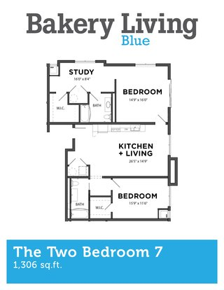 2 Bedrooms 2 Bathrooms Apartment for rent at Bakery Living Blue in Pittsburgh, PA
