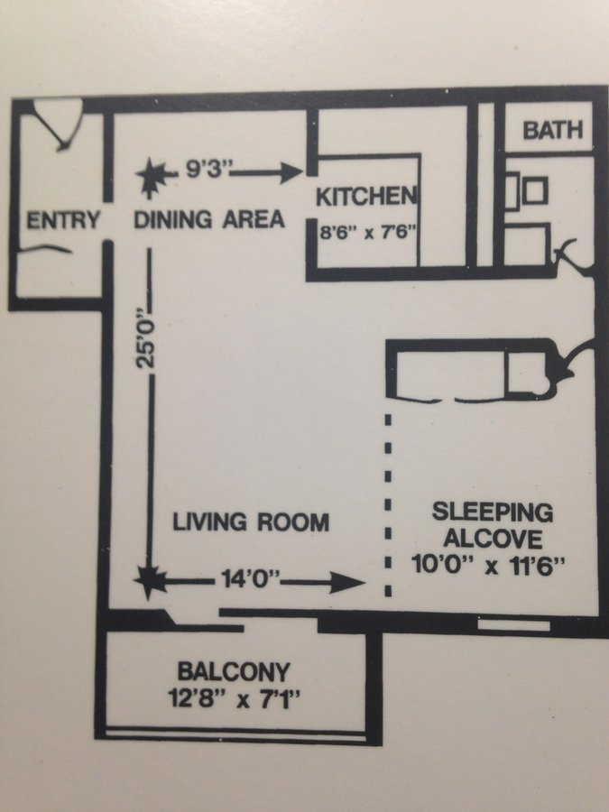 Studio 1 Bathroom Apartment for rent at Walnut Crossings in Monroeville, PA