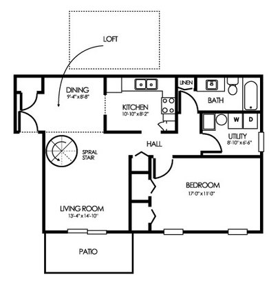 1 Bedroom 1 Bathroom Apartment for rent at Clearwater Farm Apartment Homes in Louisville, KY