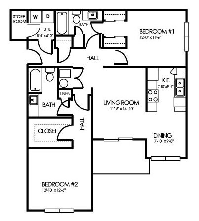 2 Bedrooms 2 Bathrooms Apartment for rent at Clearwater Farm Apartment Homes in Louisville, KY