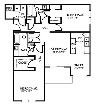 3 Bedrooms 3 Bathrooms Apartment for rent at Clearwater Farm Apartment Homes in Louisville, KY