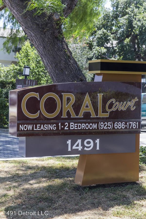 1 Bedroom 1 Bathroom Apartment for rent at 1491 Detroit - Leasing Office in Concord, CA