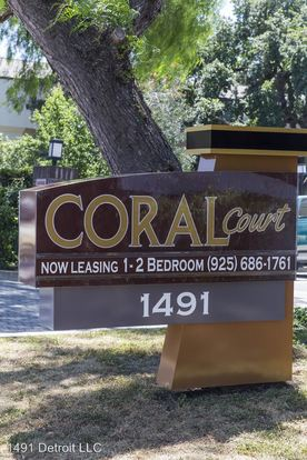 1 Bedroom 1 Bathroom Apartment for rent at 1491 Detroit Leasing Office in Concord, CA