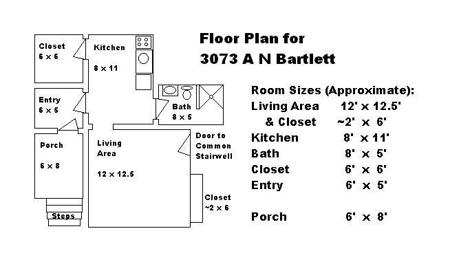 Studio 1 Bathroom Apartment for rent at 3073 - 3073a - 3075 N Bartlett Ave in Milwaukee, WI