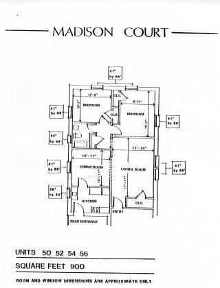 2 Bedrooms 1 Bathroom Apartment for rent at Madison Court in Cincinnati, OH