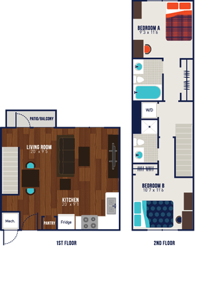 2 Bedrooms 2 Bathrooms Apartment for rent at The Wyatt in Lexington, KY