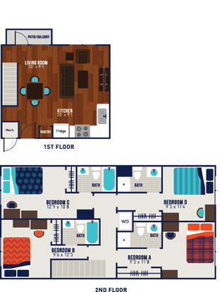 4 Bedrooms 4+ Bathrooms Apartment for rent at The Wyatt in Lexington, KY