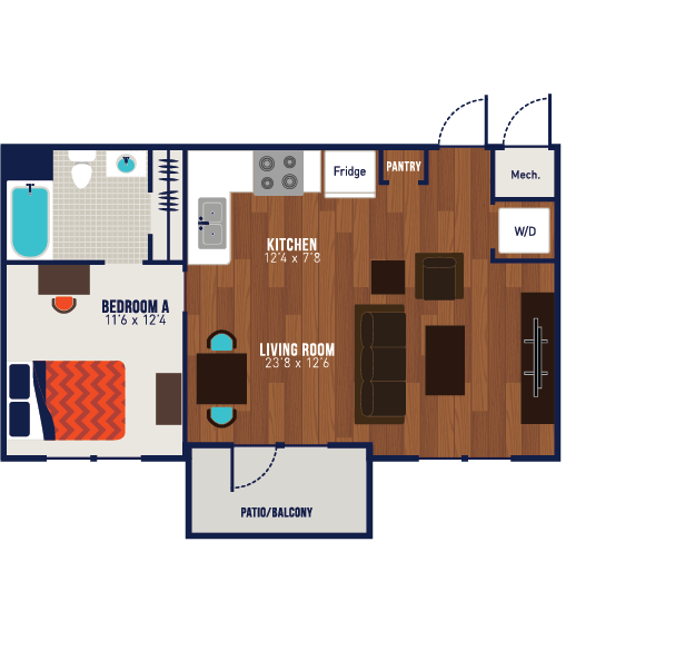 1 Bedroom 1 Bathroom Apartment for rent at The Blake in Kennesaw, GA