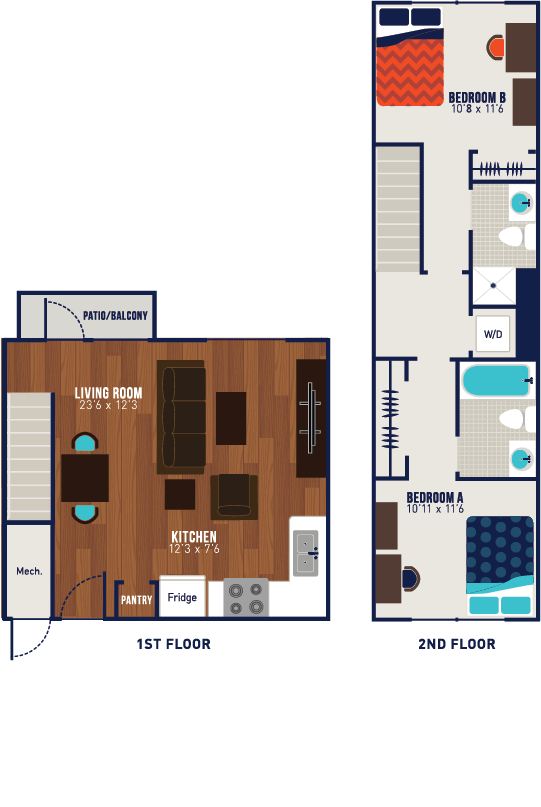 2 Bedrooms 2 Bathrooms Apartment for rent at The Blake in Kennesaw, GA
