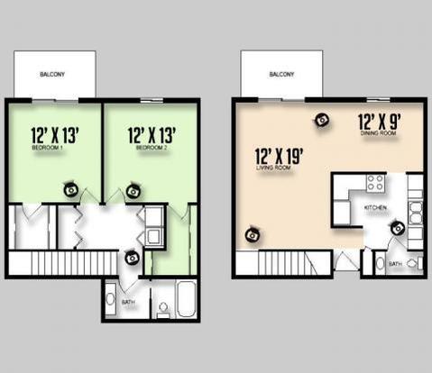 2 Bedrooms 1 Bathroom Apartment for rent at Colorado Oaks in Urbana, IL