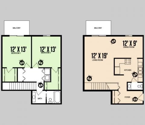 2 Bedrooms 2 Bathrooms Apartment for rent at Colorado Oaks in Urbana, IL