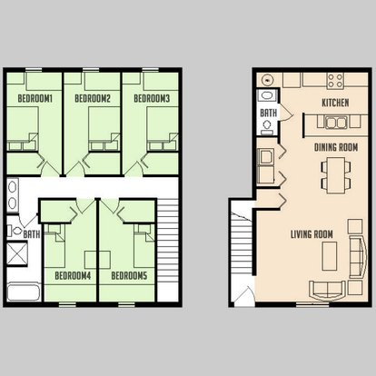 5 Bedrooms 1 Bathroom Apartment for rent at Carriage Way in Urbana, IL