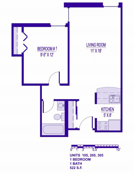 1 Bedroom 1 Bathroom Apartment for rent at The London House in Milwaukee, WI