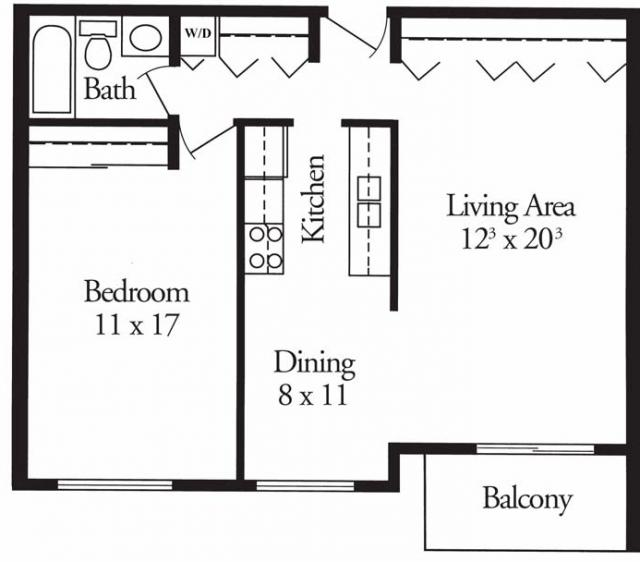 1 Bedroom 1 Bathroom Apartment for rent at Tree Tops At Calhoun in Minneapolis, MN