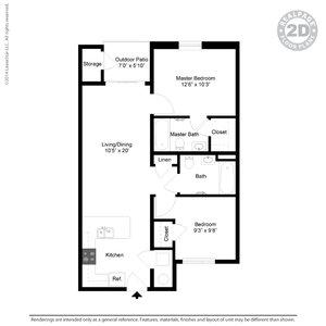 2 Bedrooms 1 Bathroom Apartment for rent at Casitas De Colores in Albuquerque, NM