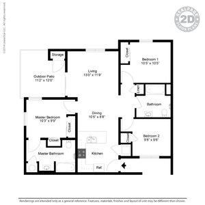 3 Bedrooms 2 Bathrooms Apartment for rent at Casitas De Colores in Albuquerque, NM