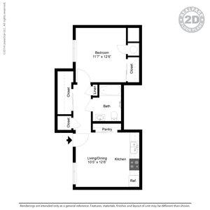 1 Bedroom 1 Bathroom Apartment for rent at Casitas De Colores in Albuquerque, NM