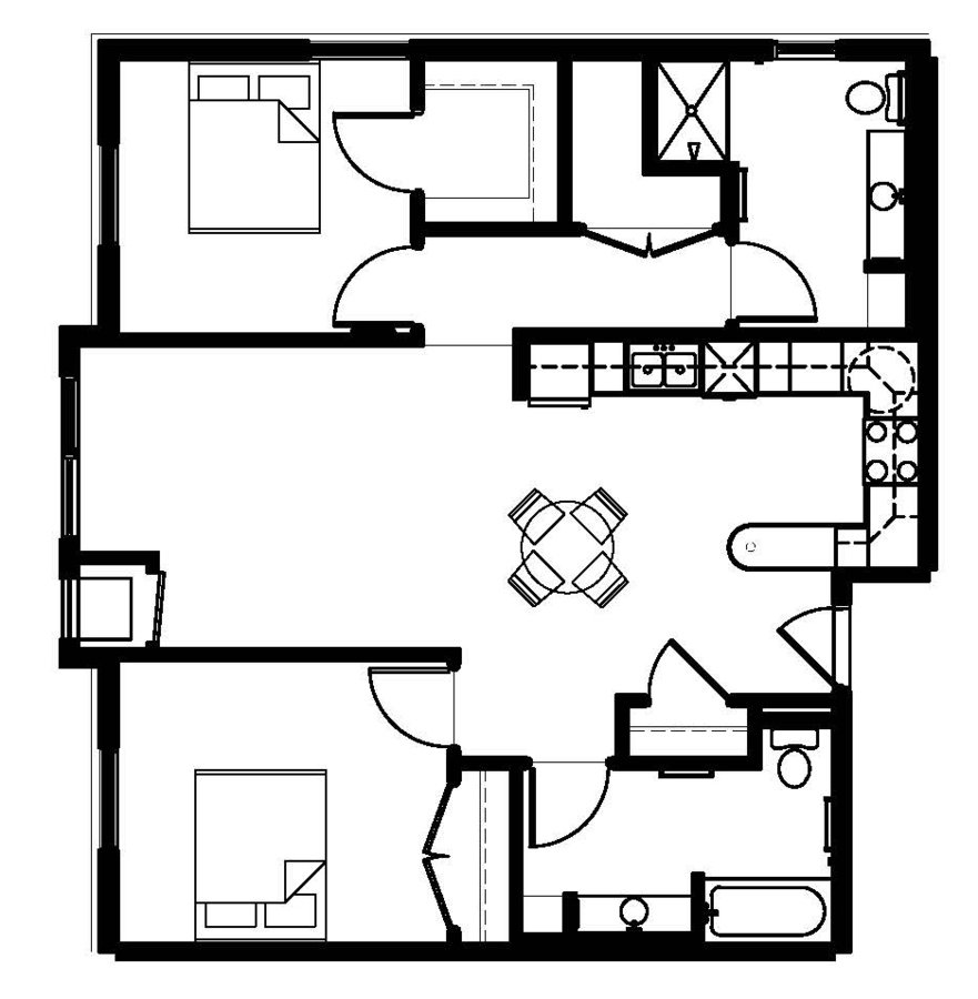 2 Bedrooms 2 Bathrooms Apartment for rent at 1st Avenue Flats in Rochester, MN