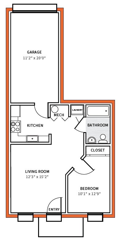 1 Bedroom 1 Bathroom Apartment for rent at Carson Street Commons in Pittsburgh, PA