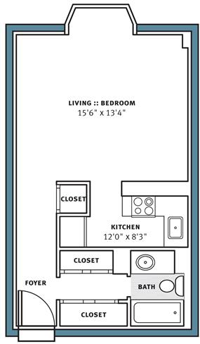 Studio 1 Bathroom Apartment for rent at Park View Apartments in Pittsburgh, PA