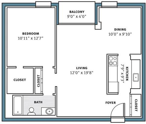 1 Bedroom 1 Bathroom Apartment for rent at Park View Apartments in Pittsburgh, PA