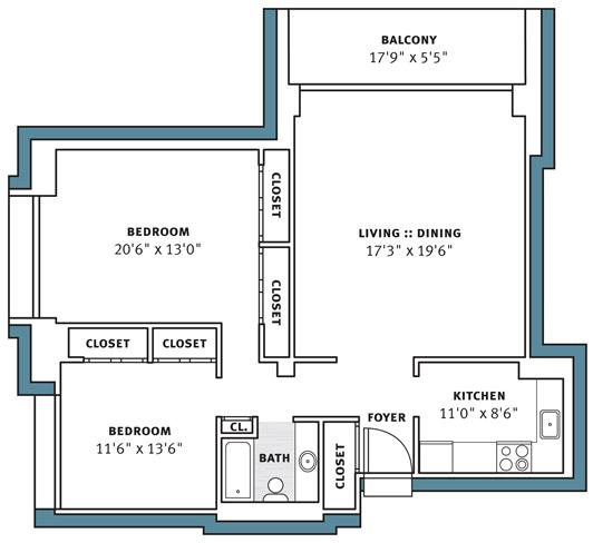 2 Bedrooms 1 Bathroom Apartment for rent at Park View Apartments in Pittsburgh, PA