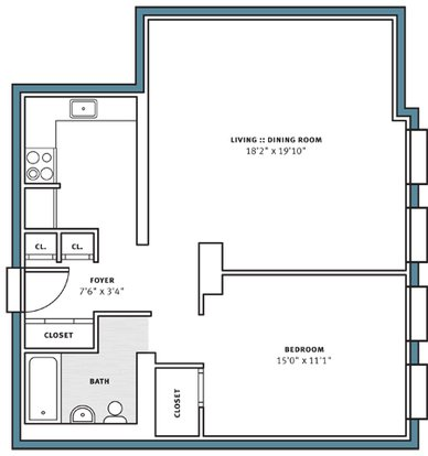 1 Bedroom 1 Bathroom Apartment for rent at City View Apartments in Pittsburgh, PA