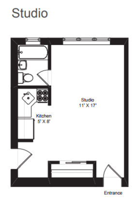 Studio 1 Bathroom Apartment for rent at Dakin Court in Chicago, WI