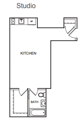 Studio 1 Bathroom Apartment for rent at Kenmore Place in Chicago, IL