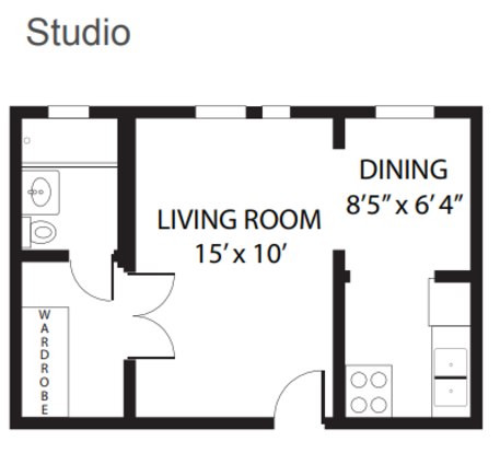 Studio 1 Bathroom Apartment for rent at Wolcott Terrace in Chicago, IL