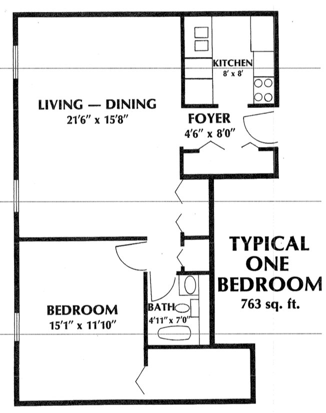 1 Bedroom 1 Bathroom Apartment for rent at Sheridan Plaza in Chicago, IL