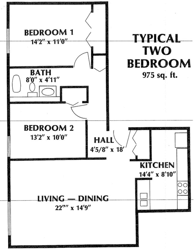 2 Bedrooms 1 Bathroom Apartment for rent at Sheridan Plaza in Chicago, IL